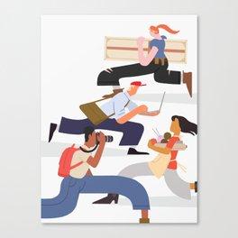 Busy Creatives Canvas Print
