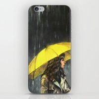 train iPhone & iPod Skins featuring All Upon the Downtown Train by Alice X. Zhang