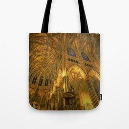Golden Light Cathedral Tote Bag