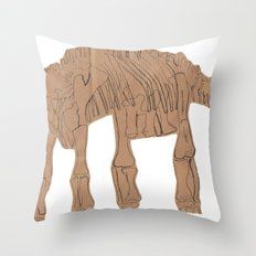 Long neck dino Throw Pillow