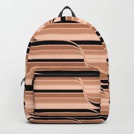Geo Stripes - Black & Neutral Backpack