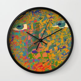 Contemporary David in the Jungle Zone Wall Clock