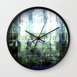 Each drop seemed meticulously dormant, pensive. Wall Clock