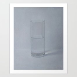 Half full or empty? Art Print