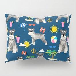 Schnauzer dog breed summer tropical dog pattern gifts schnauzers Pillow Sham