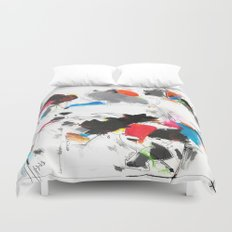 Tribute to Tinguely Duvet Cover