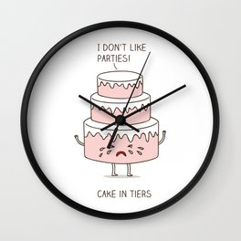 Cake in tiers Wall Clock
