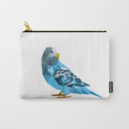 Geometric blue parakeet Carry-All Pouch