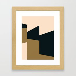High contrast abstract Framed Art Print