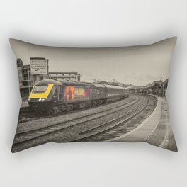 Harry Patch at Bristol Temple Meads Rectangular Pillow