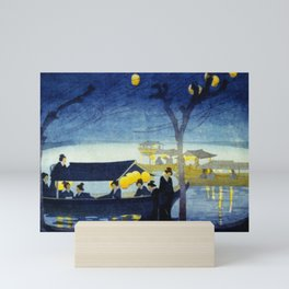Wasen at Night - Vintage Japanese Art Mini Art Print