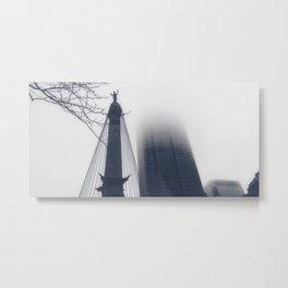 Monument Circle Metal Print