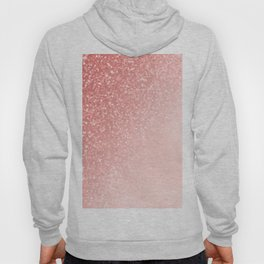 She Sparkles Deep Rose Gold Pastel Pink Luxe Geometric Hoody