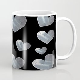 Silver hearts-Black Coffee Mug
