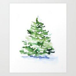 Watercolor Pine Tree Art Print