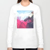 wwe Long Sleeve T-shirts featuring Polygonal by eARTh