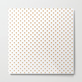 Dots (Bronze/White) Metal Print
