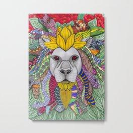 Medusa Lioness Metal Print