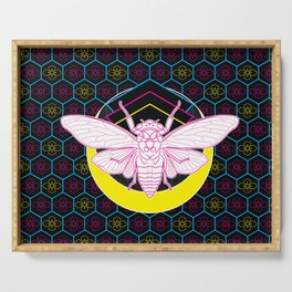 Geometric Cicada Serving Tray