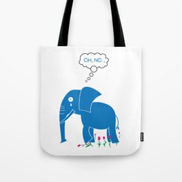 Sad Elephant Tote Bag