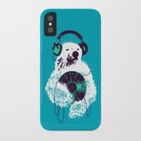 budi iPhone & iPod Cases featuring Record Bear by Picomodi