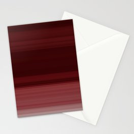 Ruby Red Ombre Stripe Design Stationery Cards