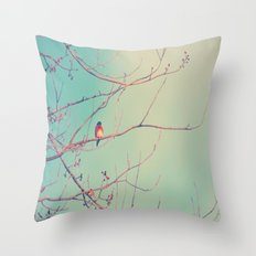Bluebird Blue Throw Pillow