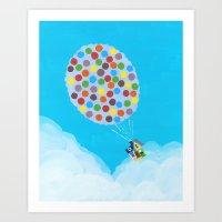 pixar Art Prints featuring Up - Disney/Pixar by Justine Shih