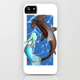 Star befriends Hull the Hammerhead iPhone Case