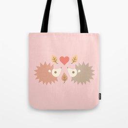 Cute hedgehogs - pink Tote Bag