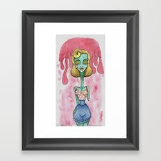 Zombie Pin Up Framed Art Print