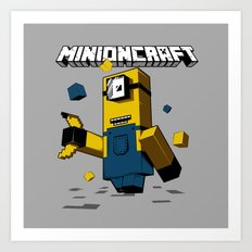 Minioncraft Art Print