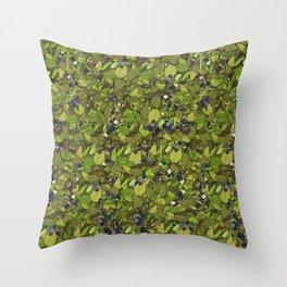 Blueberry Bushes Throw Pillow