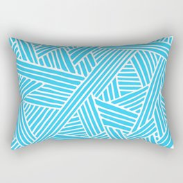 Abstract Teal & white Lines and Triangles Pattern-Mix and Match with Simplicity of Life #Society6 Rectangular Pillow
