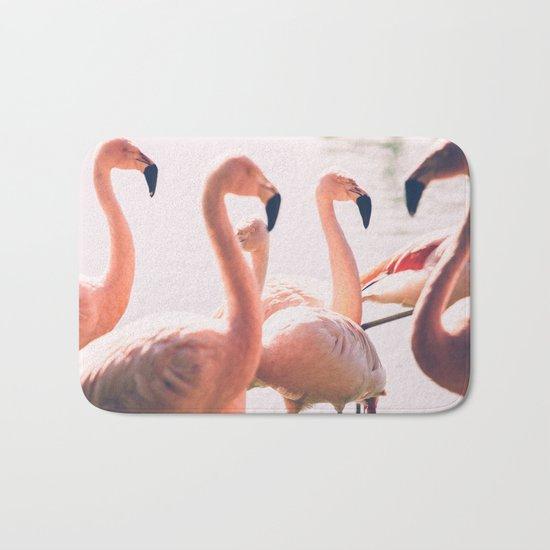 Pink Flamingo Flock Bath Mat