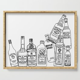 Alcohol Bottles (White) Serving Tray