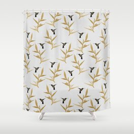 Hummingbird & Flower II Shower Curtain