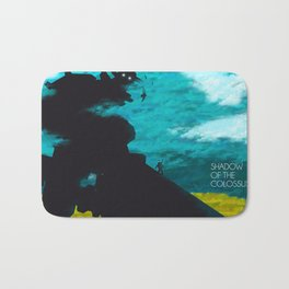 Shadow Of The Colossus Minimalist Cloudy Poster Bath Mat
