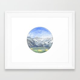 Valley Camping Framed Art Print