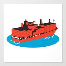 container cargo ship retro Canvas Print