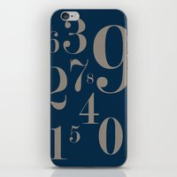 numbers iPhone & iPod Skins featuring Numbers  by Kimberly Jones