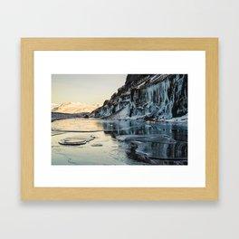 Snaefellsnes peninsula in winter, Iceland Framed Art Print
