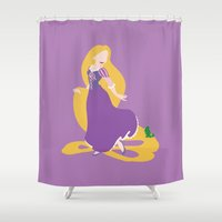 tangled Shower Curtains featuring tangled by Live It Up