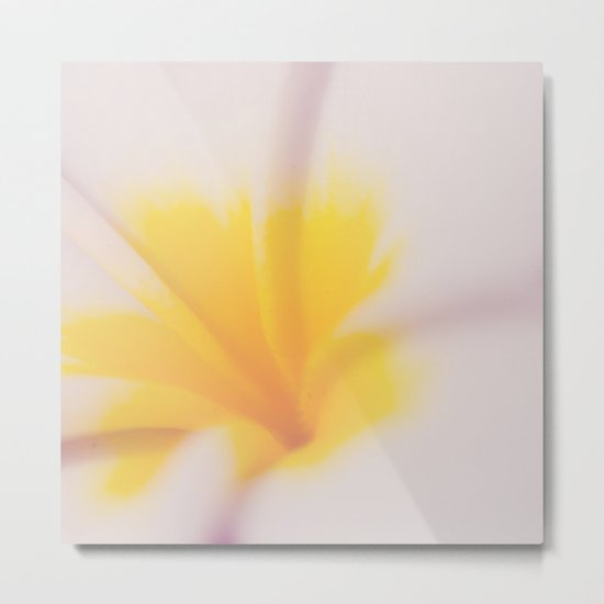 Yellow & Pink Metal Print