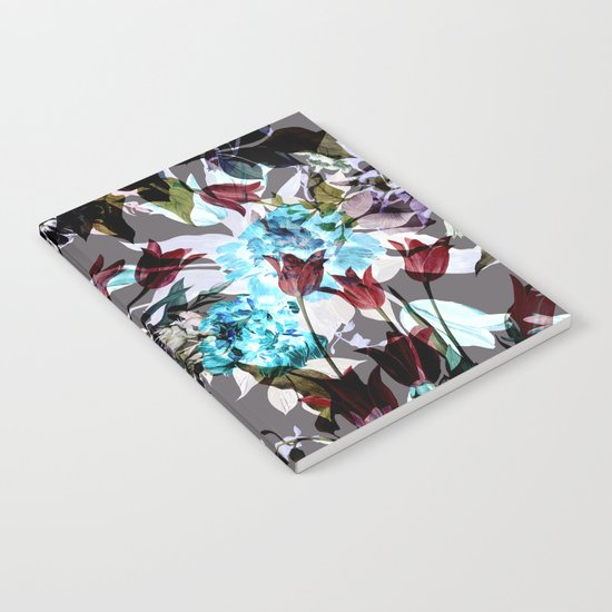 Seamless Absract Flower Pattern Notebook