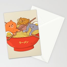 Ramen cats Stationery Cards
