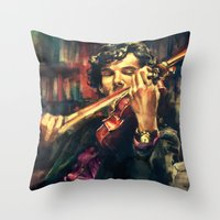 pop Throw Pillows featuring Virtuoso by Alice X. Zhang