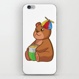 Cartoon Teddy Bear iPhone Skin