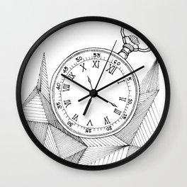 Geometric Pocket Watch Wall Clock