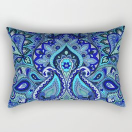 Paisley Blue Rectangular Pillow